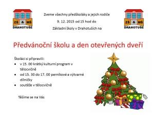 Předvánoční škola 2 2015